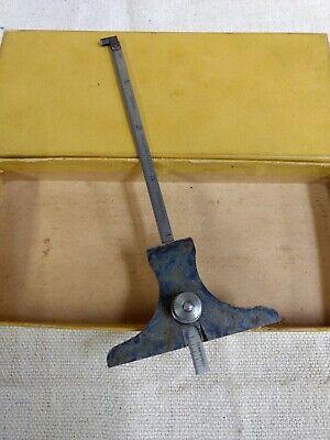 Vintage Lufkin Depth Gage With Hook Rule H511 Original Box