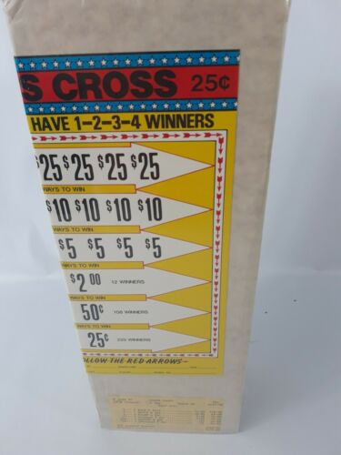 CRISS CROSS - PULL TAB TICKETS - 1728 COUNT @ $ .25