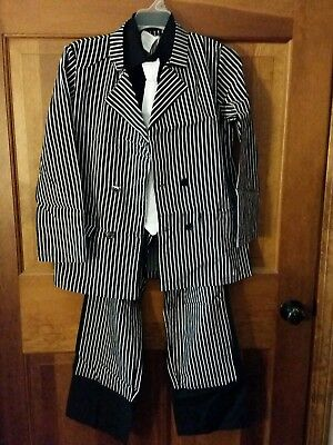 Gangster Zoot double breasted Suit Costume Kids large jacket pants shirt - Gangster Costume Child