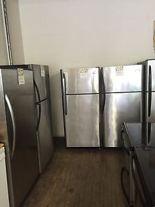 Stainless steel fridges and stoves