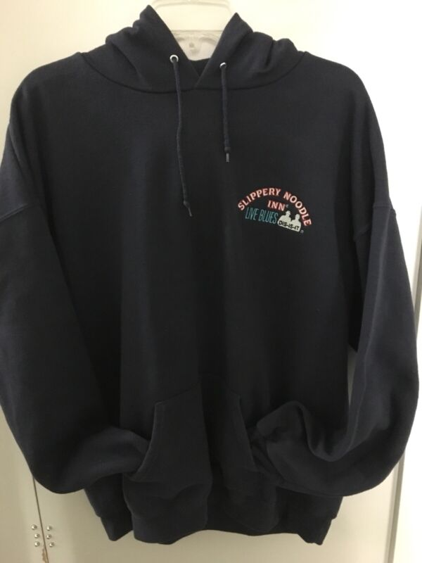 Slippery Noodle Inn Live Blues Hoodie Lee Heavyweight Mens Sz XL  Indianapolis