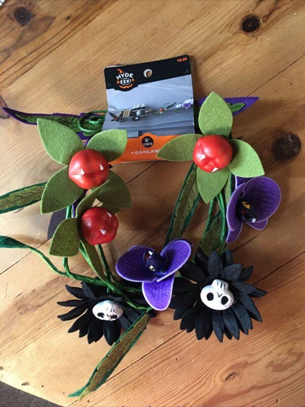 Ghoulish Garden 6 FOOT Garland Halloween Succulent Plant Hyde & Eek Target 2021