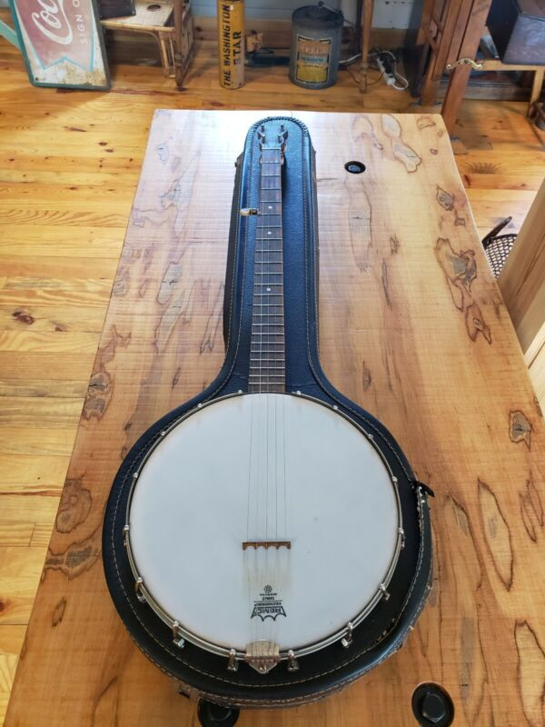 Vintage Five String Banjo w/case