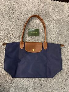 Longchamp Le Pliage Small Tote - Navy Blue, made in France!