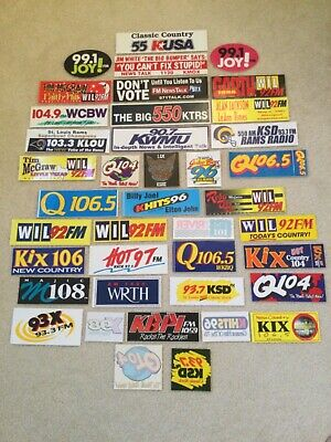 40 Vintage St. Louis Radio Bumper Stickers KSHE 95 93.7 KSD KMOX MAJIC 108