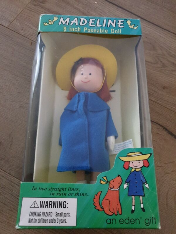 Madeline 8 Inch Poseable Doll Vintage 1997 Eden Toys Brand New In Box