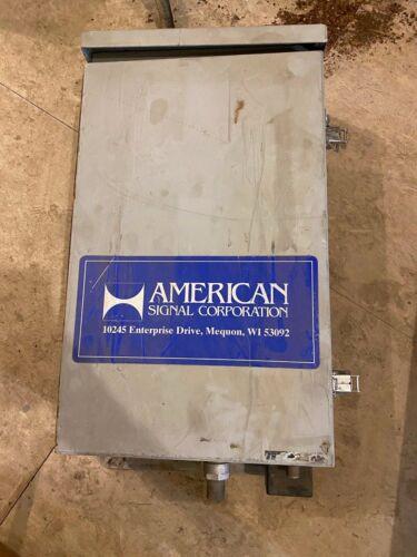 American Signal Tornado control cabinet
