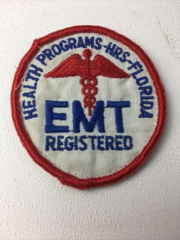Florida EMT registered Health Programs HRS Patch