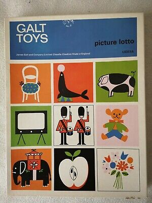 Galt Toys Picture Lotto Vintage Board Game L0351A
