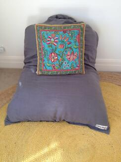 Two Quality French Linen Bean Bags