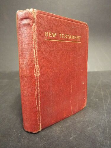 1914 Scotland New Testament Bible. WWI - 4th Battalion Royal Scots soldier owned