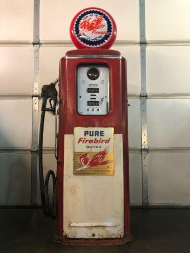 VINTAGE UNRESTORED 1954 FIREBIRD TOKHEIM GAS PUMP