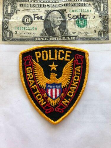 Very Rare Grafton North Dakota Police Patch un-sewn in great shape