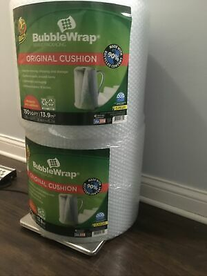 2 Rolls Duck Original 316 Inch Bubble Wrap Cushioning 12 In X 150 Ft Clear