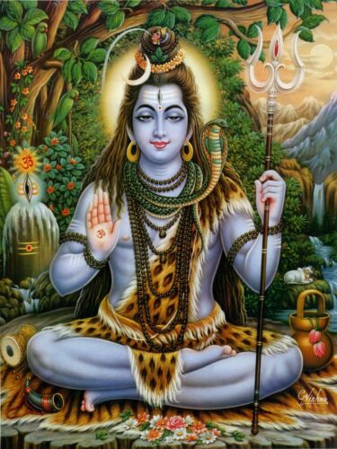 Shiva Art Poster Print. Hinduism Hindu God India