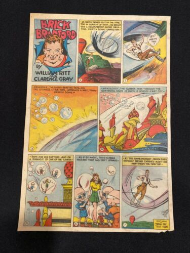 #38 BRICK BRADFORD by Clarence Gray Sunday Tabloid Full Page August 12, 1945