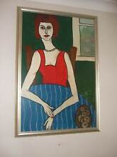Painting by Artist Anne Pearson  - Lady in Red Palmyra Melville Area Preview