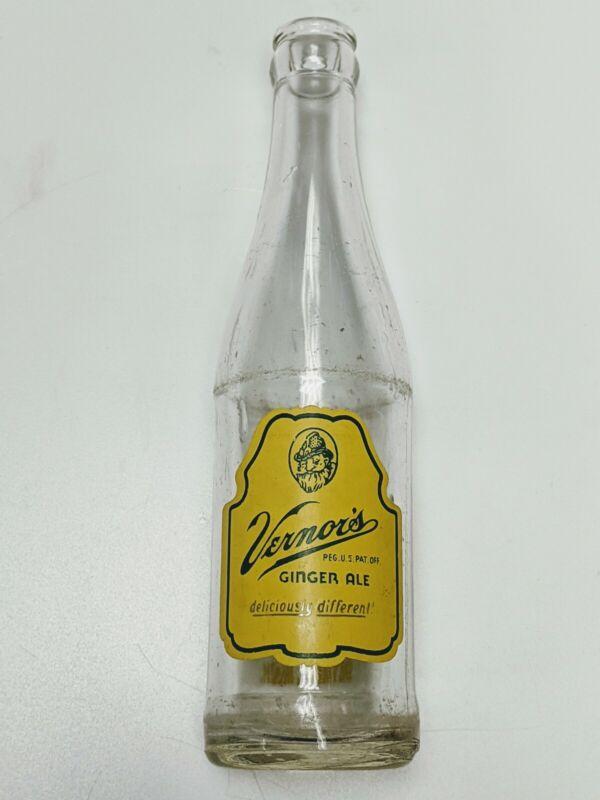 Vintage 8 oz Vernors Ginger Ale Bottle Detroit Michigan