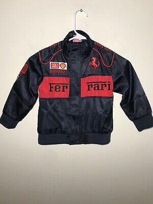 Ferrari Formula 1 Black Bomber Jacket Vodafone Kids Youth sz. Small