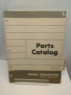 1971 White Oliver 1265 Tractor Parts Catalog Manual With Illustrations Original