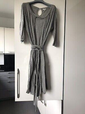 Hoss Intropia L Grey Jersey Cotton Short Sleeve Dress