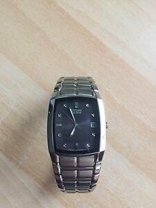 Citizen Mens Stainless Steel Eco-Drive Solar Watch Hobart CBD Hobart City Preview