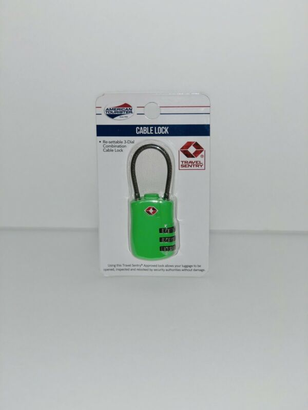 American Tourister Cable 3-Dial Combination Lock