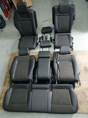 VAUXHALL ZAFIRA  2008 DESIGN MIDDLE AND REAR HALF LEATHER SEATS