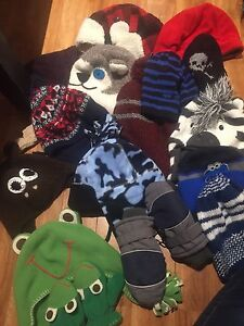 Winter hats and mittens baby boy 12-18m