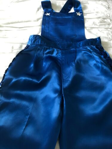 Unisex Kid Show Pants/Bib Blue Pants