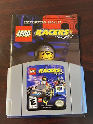 LEGO Racers NINTENDO 64 N64 Game With Manual - Tested + Working & Authentic!
