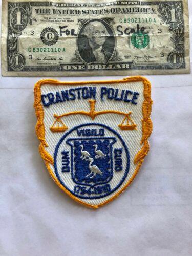 Cranston Rhode Island Police Patch Un-sewn great shape