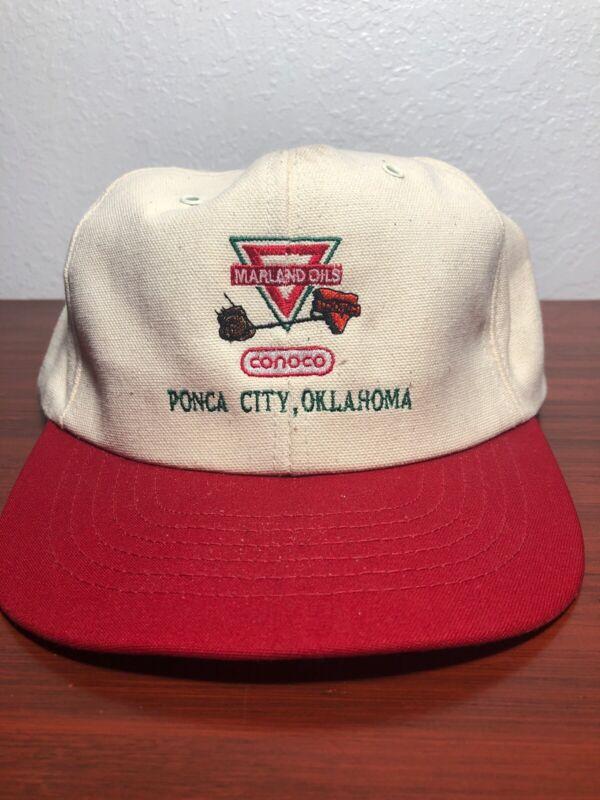 Conoco Marland Hat Ponca City Oklahoma Vintage