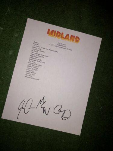 Midland Signed setlist reproduction