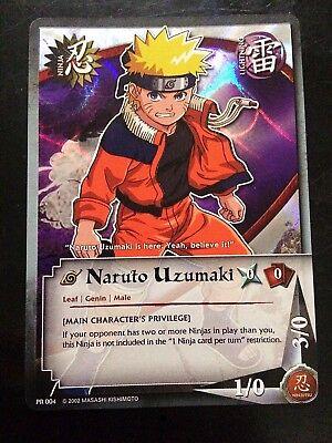 - Naruto Cards - Naruto Promo Wavy FOIL PR 004 Main Character's Privilege NM CCG