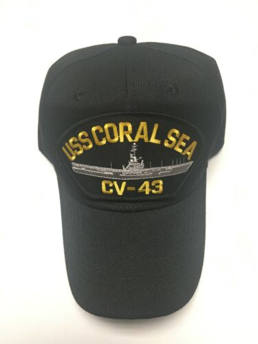 US NAVY USS CORAL SEA (CV-43) MILITARY HAT / CAP