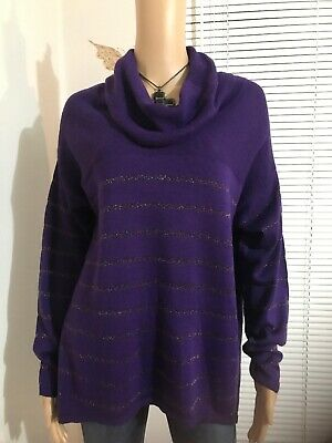 Cold Water Creek Women's Sweater Size M-(10-12) purple Long sleeve  Cold Water Acrylic