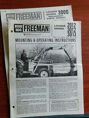 Bush Hog Freeman Loader Series 2012 3012 3013 - Mounting Operating Instr
