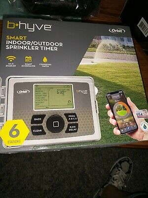 ORBIT B-HYVE SMART INDOOR/OUTDOOR 6-STATION WIFI SPRINKLER TIMER SYSTEM- NEW