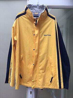 Mens Nautica Zipped Hooded Yellow Jacket Size XL