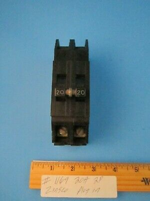 Zinsco Gte Sylvania Qc-20 Circuit Breaker 20 Amp 2 Pole 120240v Plug In On