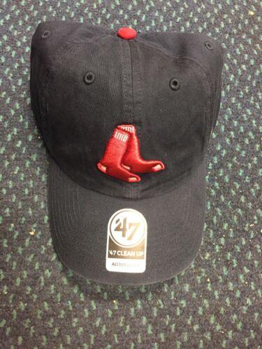 e56e8d1e6e2 47 Brand Clean Up MLB Hat Cap Boston Red Sox navy