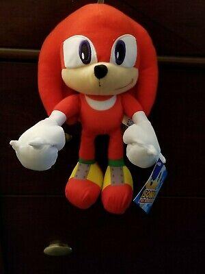 "NEW! KNUCKLES Sonic the Hedgehog 12"" Plush Stuffed 2018 Edition Authentic SEGA"