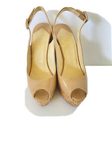 Christian Louboutin Nude Une Plume Sling 120 Patent