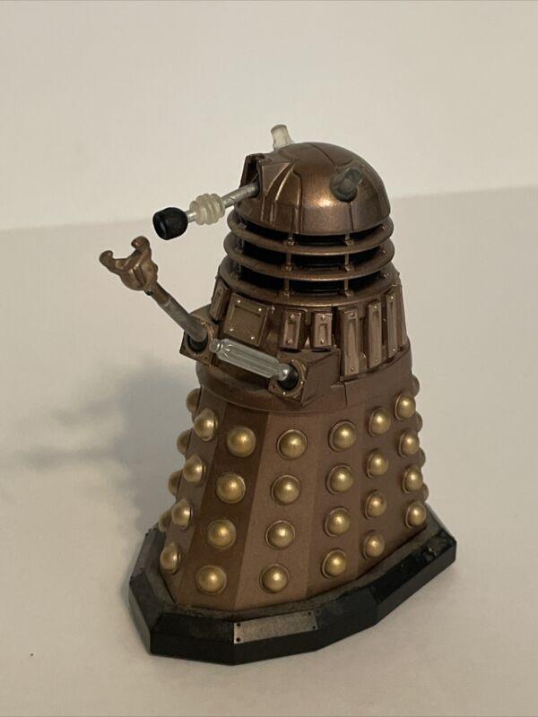"Doctor Who & TM BBC Figure 3.25"" DALEK Gold Bronze Robot Toy Rolling Wheels"