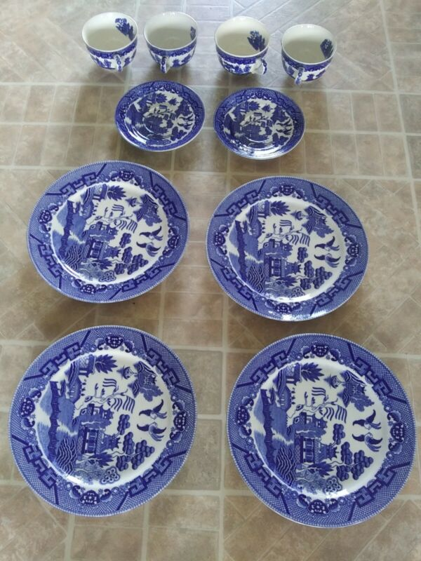 Vintage Blue Willow Dishes Made In Japan