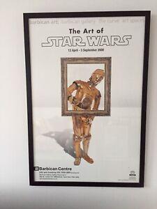 The art of Star Wars framed poster