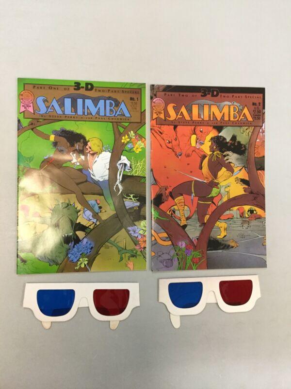Salimba 3-D W/ Glasses 1-2 Complete Set Blackthorne Publishing 1986