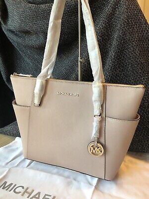 BNWT Genuine Michael Kors Jet Set Saffiano Leather Medium Tote Bag in Soft Pink