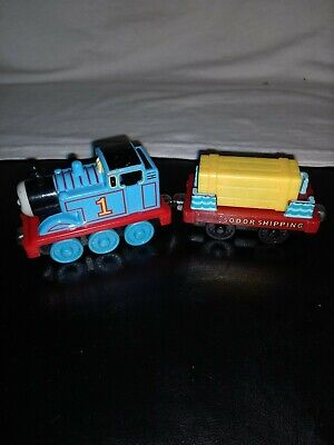 Thomas The Train Engine #1 Die Cast Gullane Learning Curve & Sodor Cargo Car